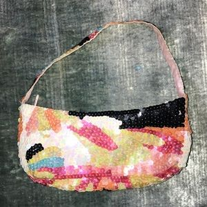 Vintage 80's Sequin Clutch Handbag